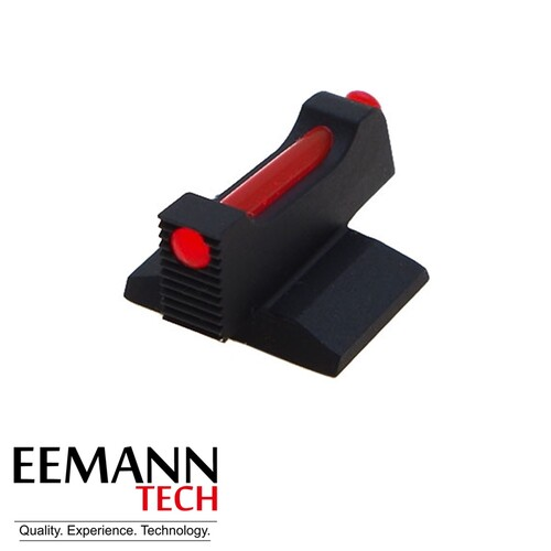 Eemann Tech 1911/2011 - Front Sight, Checkered - 1.5 mm Fibre Optic Rod - NOVAK CUT